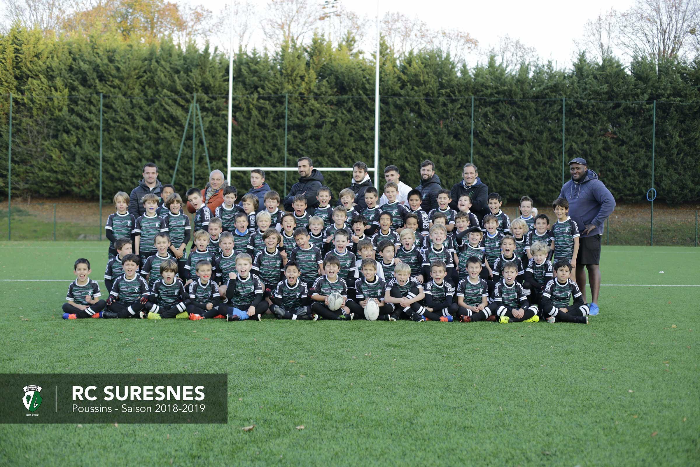 Les Poussins du Rugby Club Suresnes Hauts-de-Seine / Saison 2018-2019
