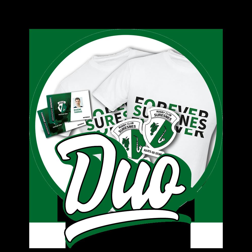 Abonnement DUO - Rugby Club Suresnes Hauts-de-Seine