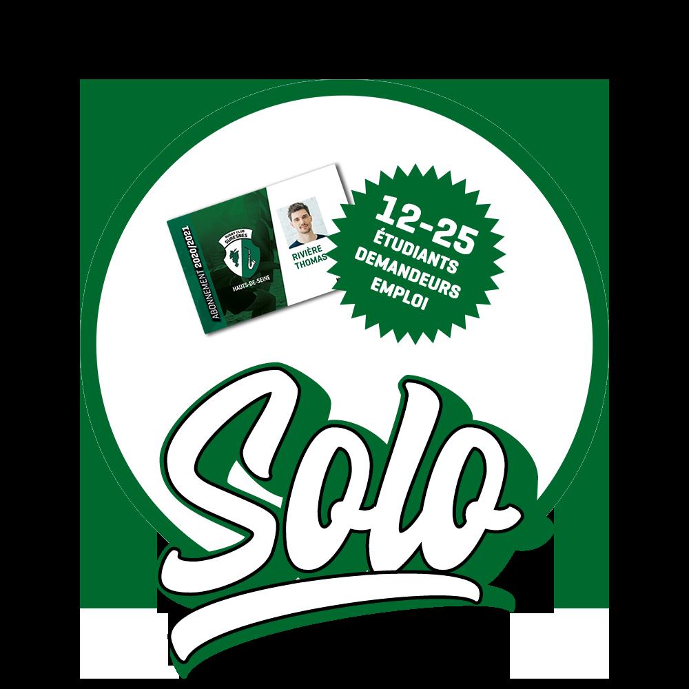 Abonnement SOLO 12-25- Rugby Club Suresnes Hauts-de-Seine