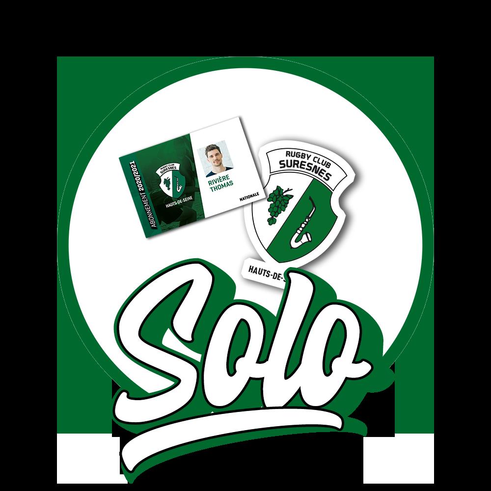 Abonnement SOLO - Rugby Club Suresnes Hauts-de-Seine