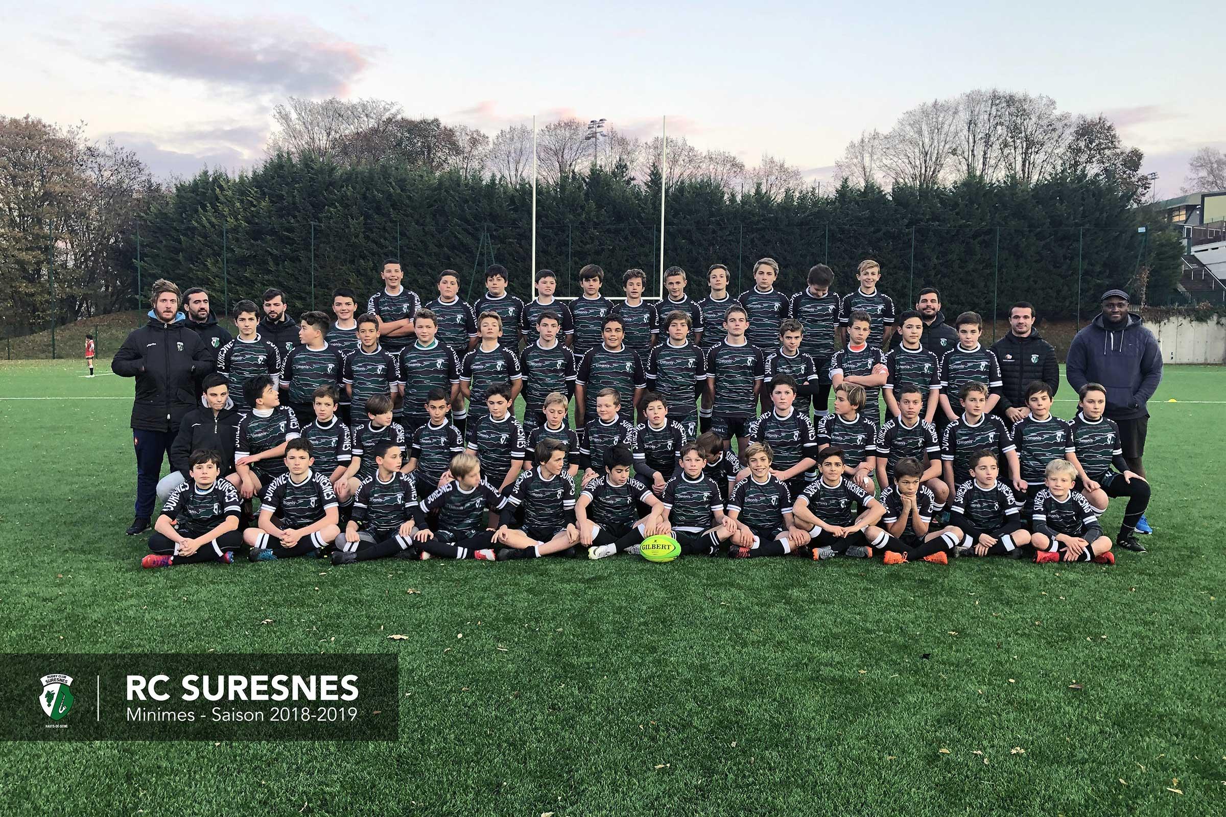 Les minimes du Rugby Club Suresnes Hauts-de-Seine / Saison 2018-2019