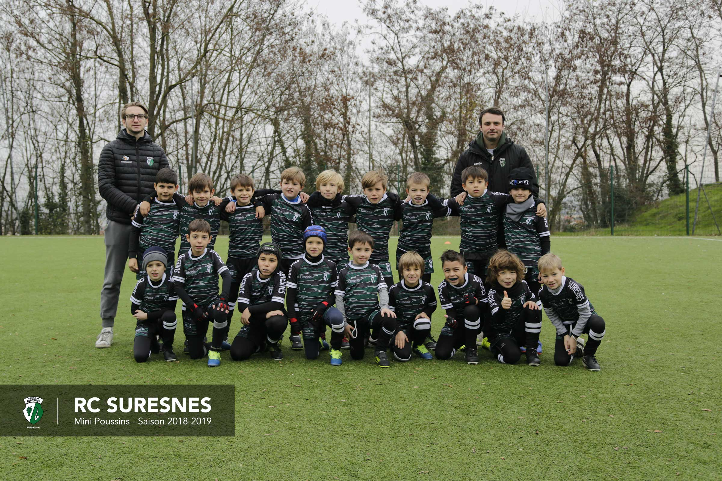 Les Mini-Poussins du Rugby Club Suresnes Hauts-de-Seine / Saison 2018-2019