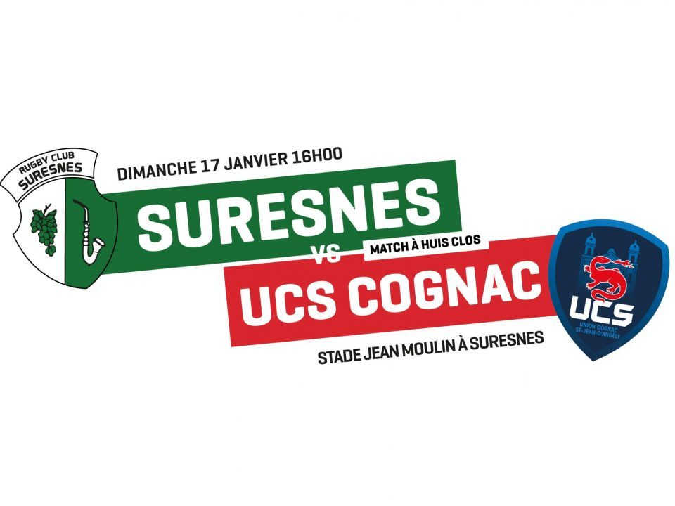 Annonce Suresnes / Cognac Rugby