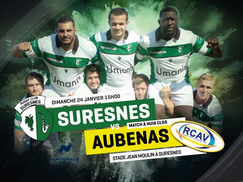 Match rugby Suresnes / Aubenas