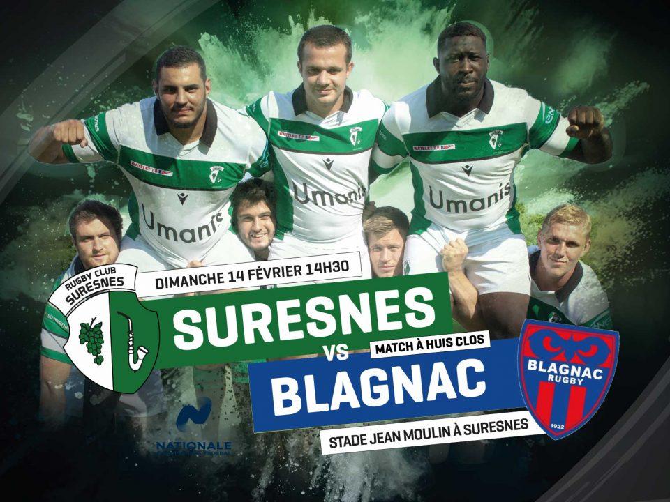 RC Suresnes / Blagnac Rugby - La diffusion en Live