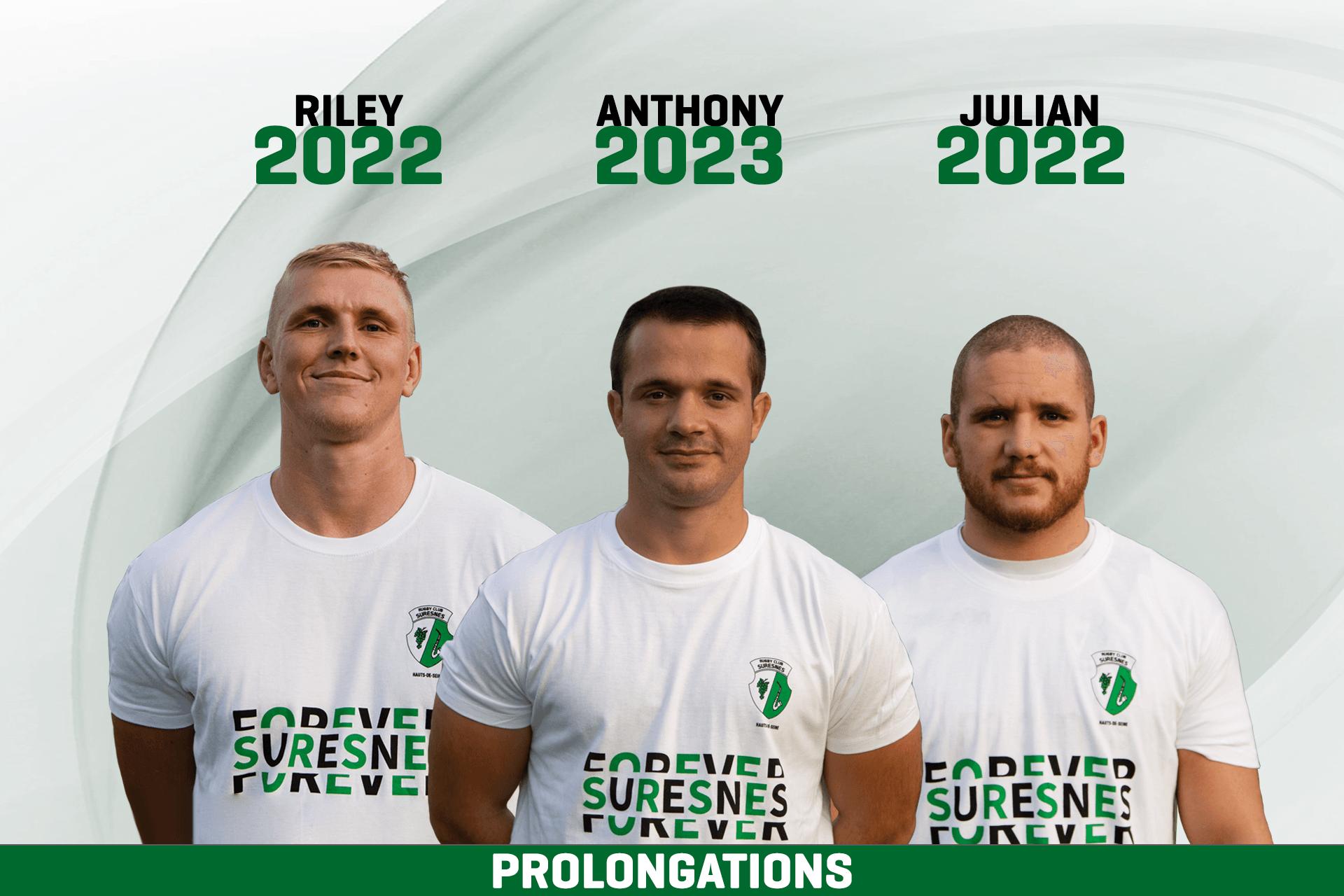 Prolongations de contrats pour Anthony Bajart, Riley Winter et Julian Millon