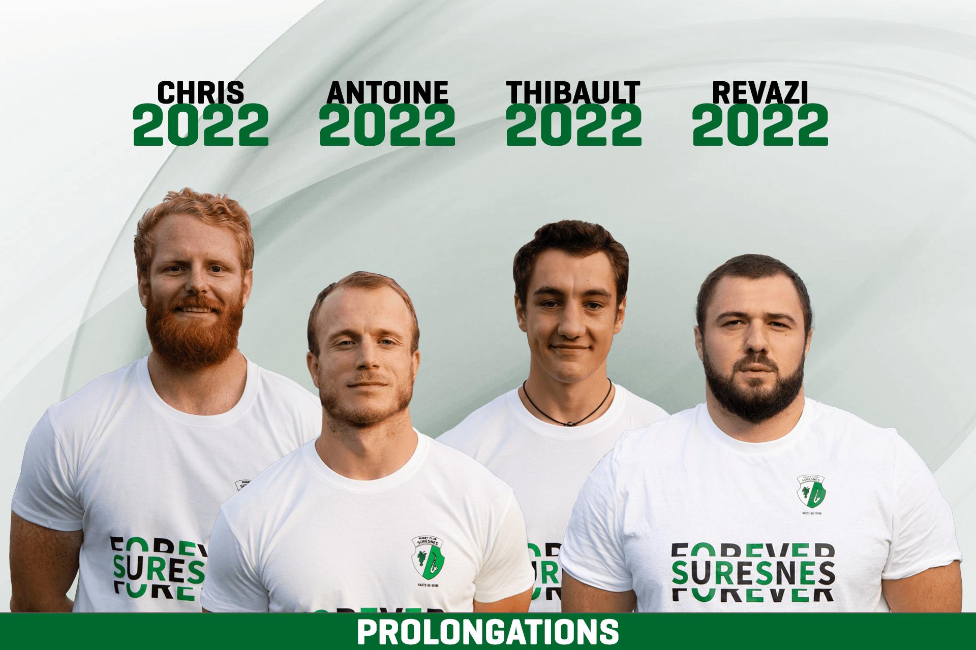 Laurent Piepszownik, Olivier Pouligny et l'ensemble du club, se félicitent des nouvelles prolongations de nos joueurs.