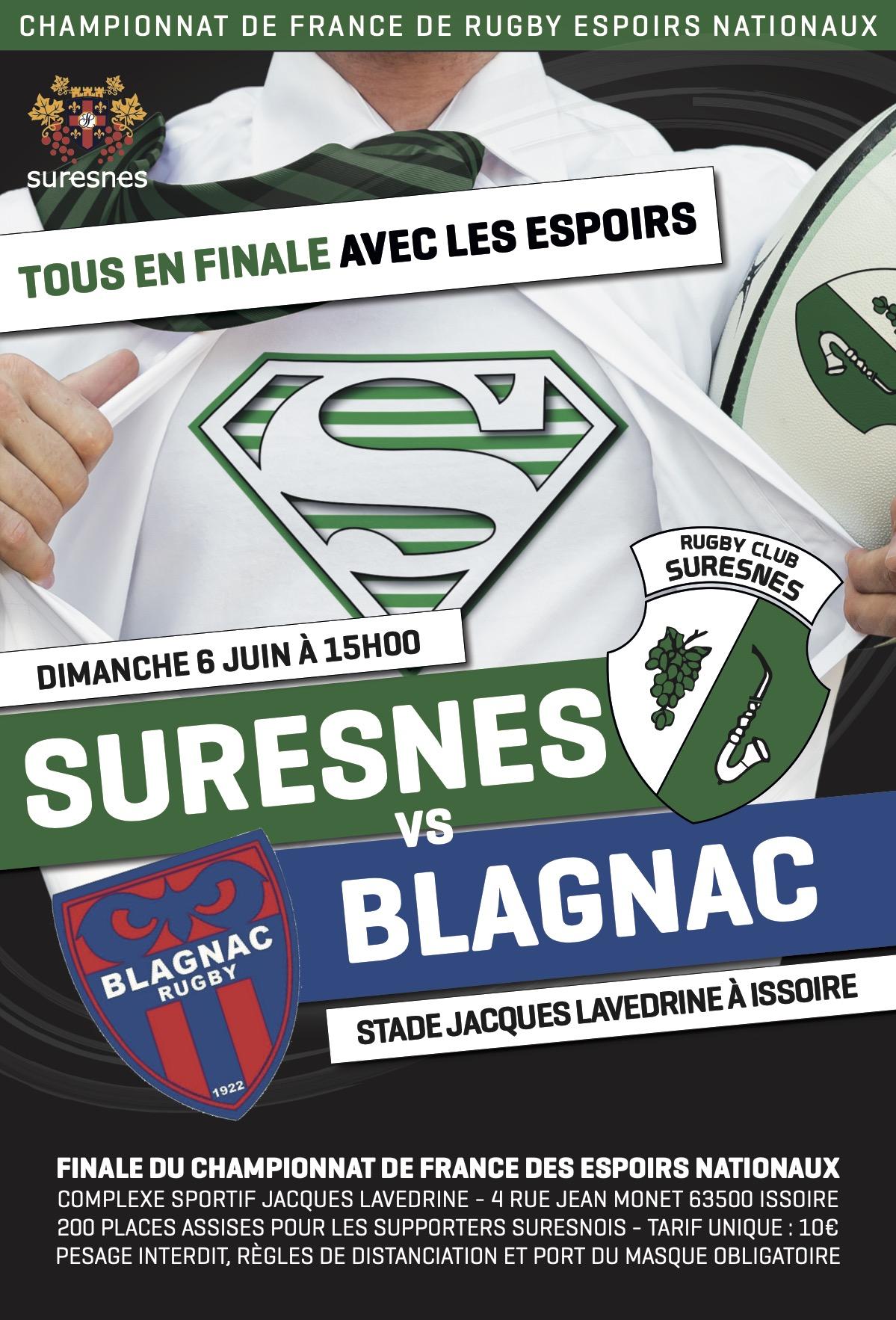 Finale du Championnat de France de rugby Espoirs Nationaux - Suresnes / Blagnac